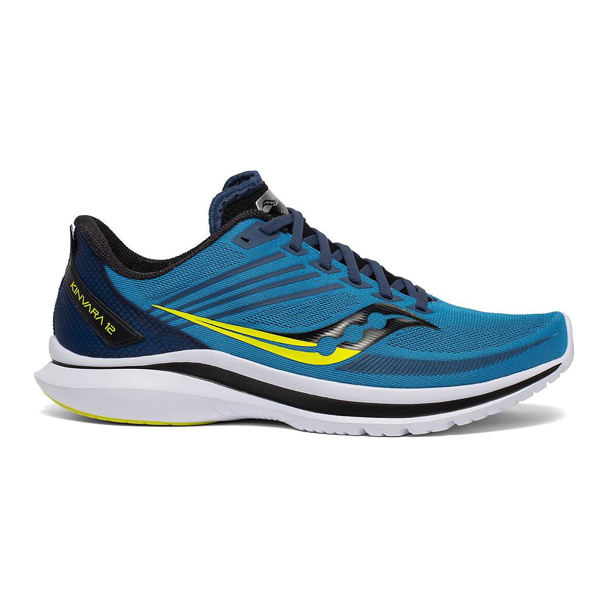 Men's Saucony Kinvara 12 Running Shoe - Color: Cobalt/Citrus - Size: 7 - Width: Regular, Cobalt/Citrus, large, image 1