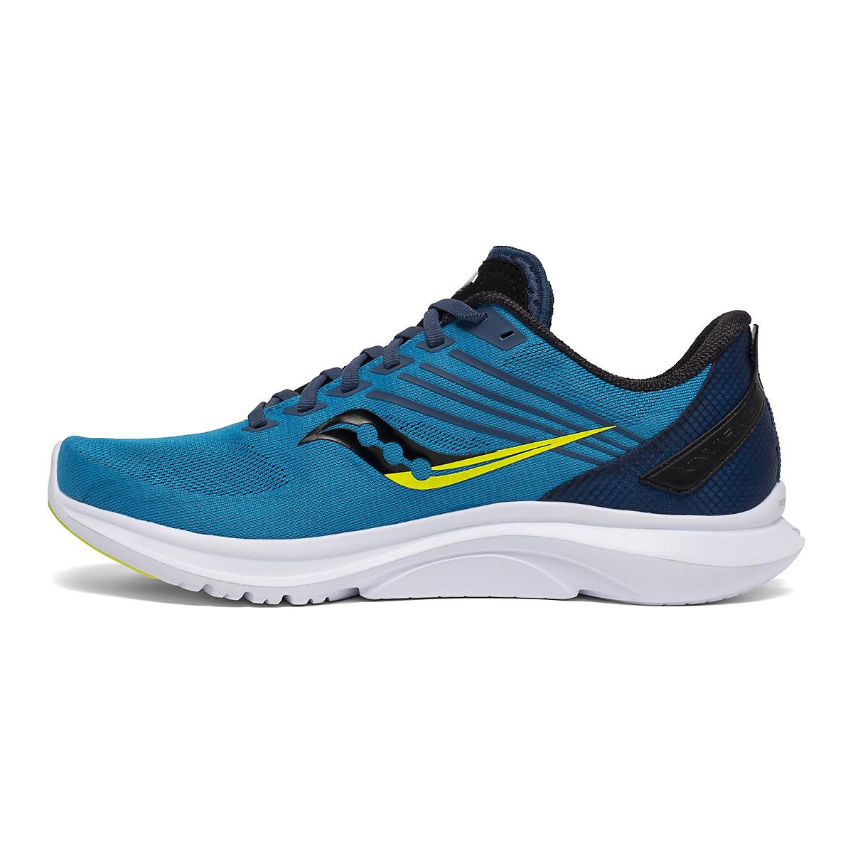 Men's Saucony Kinvara 12 Running Shoe - Color: Cobalt/Citrus - Size: 7 - Width: Regular, Cobalt/Citrus, large, image 2