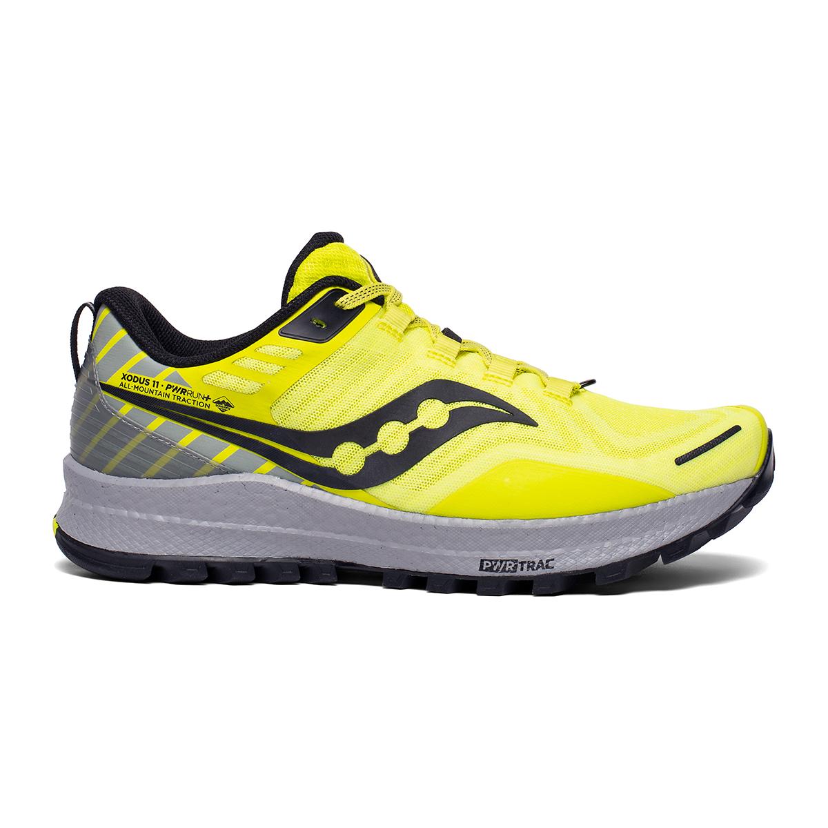 Men's Saucony Xodus 11 Trail Running Shoe - Color: Citrus/Alloy - Size: 7.5 - Width: Regular, Citrus/Alloy, large, image 1