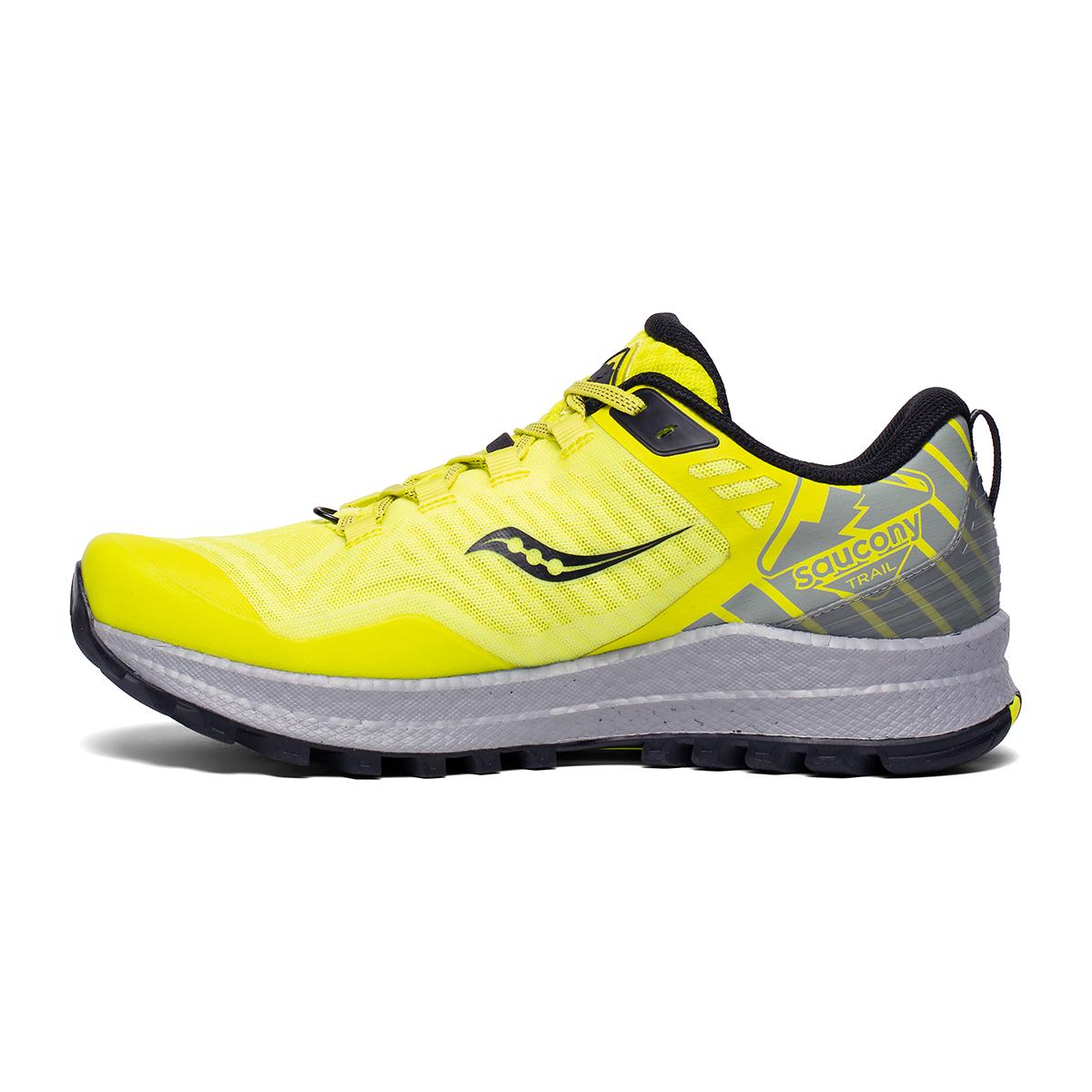 Men's Saucony Xodus 11 Trail Running Shoe - Color: Citrus/Alloy - Size: 7.5 - Width: Regular, Citrus/Alloy, large, image 2