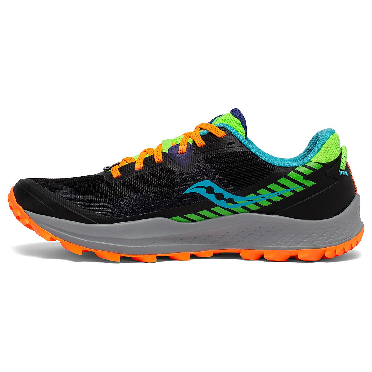 Men's Saucony Peregrine 11 Trail Running Shoe - Color: Future/Black - Size: 8 - Width: Regular, Future/Black, large, image 2