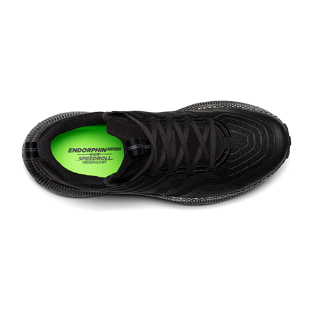 Men's Saucony Endorphin Trail Running Shoe - Color: Black/Gravel - Size: 7 - Width: Regular, Black/Gravel, large, image 3