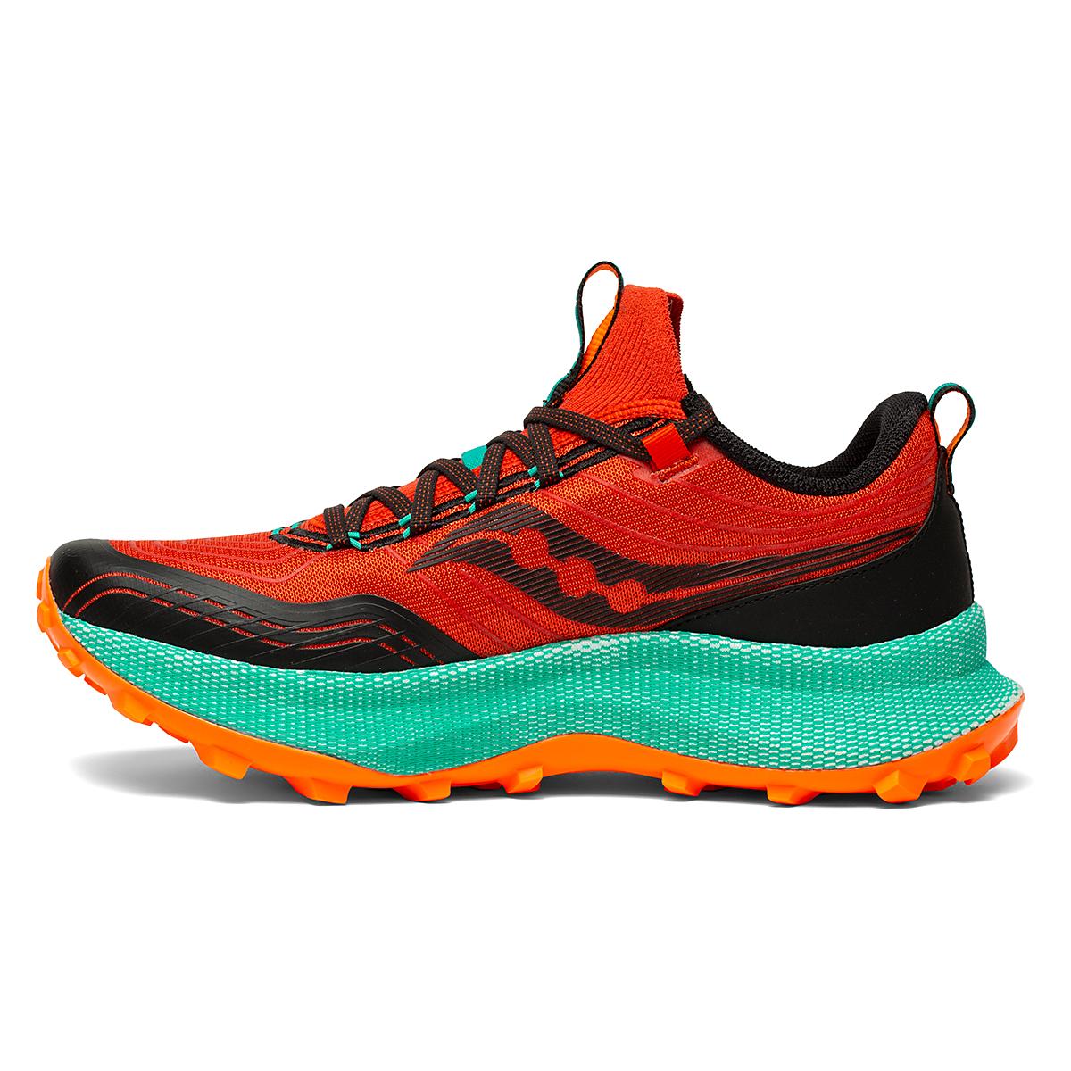 Men's Saucony Endorphin Trail Running Shoe - Color: Scarlet/Black - Size: 7 - Width: Regular, Scarlet/Black, large, image 2