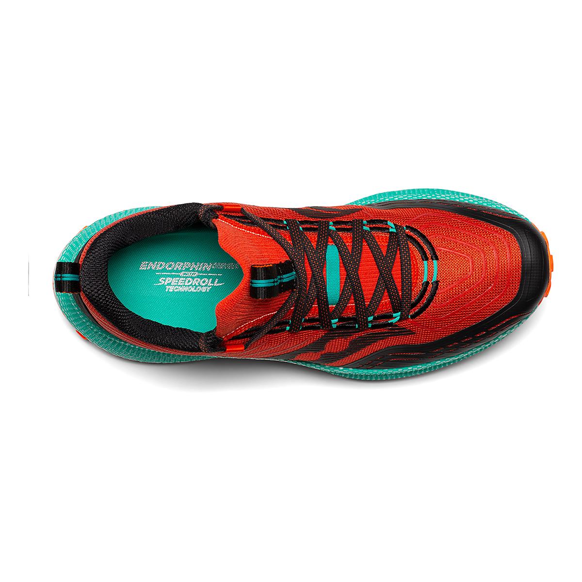 Men's Saucony Endorphin Trail Running Shoe - Color: Scarlet/Black - Size: 7 - Width: Regular, Scarlet/Black, large, image 3