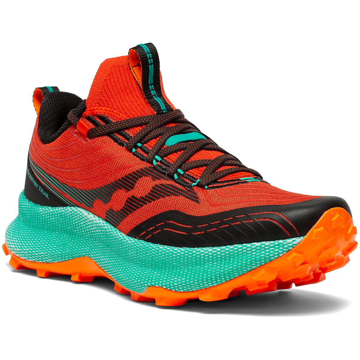Men's Saucony Endorphin Trail Running Shoe - Color: Scarlet/Black - Size: 7 - Width: Regular, Scarlet/Black, large, image 5