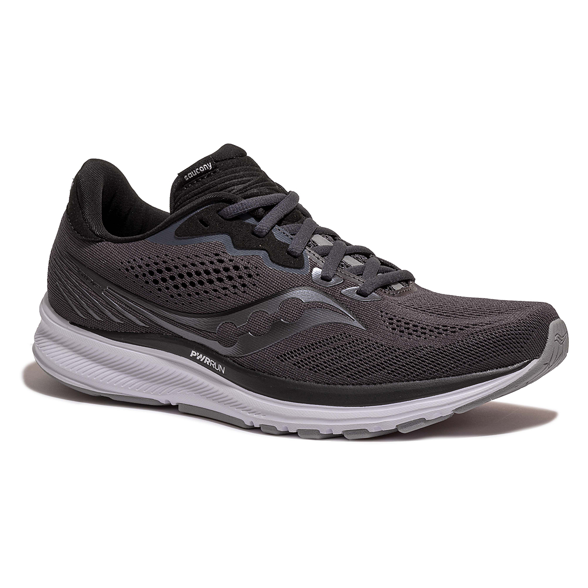 Men's Saucony Ride 14 Running Shoe - Color: Charcoal/Black - Size: 7 - Width: Wide, Charcoal/Black, large, image 5
