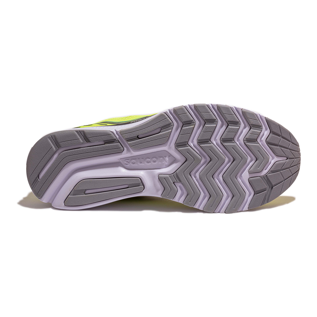 Men's Saucony Ride 14 Running Shoe - Color: Citrus / Black - Size: 7 - Width: Regular, Citrus / Black, large, image 5