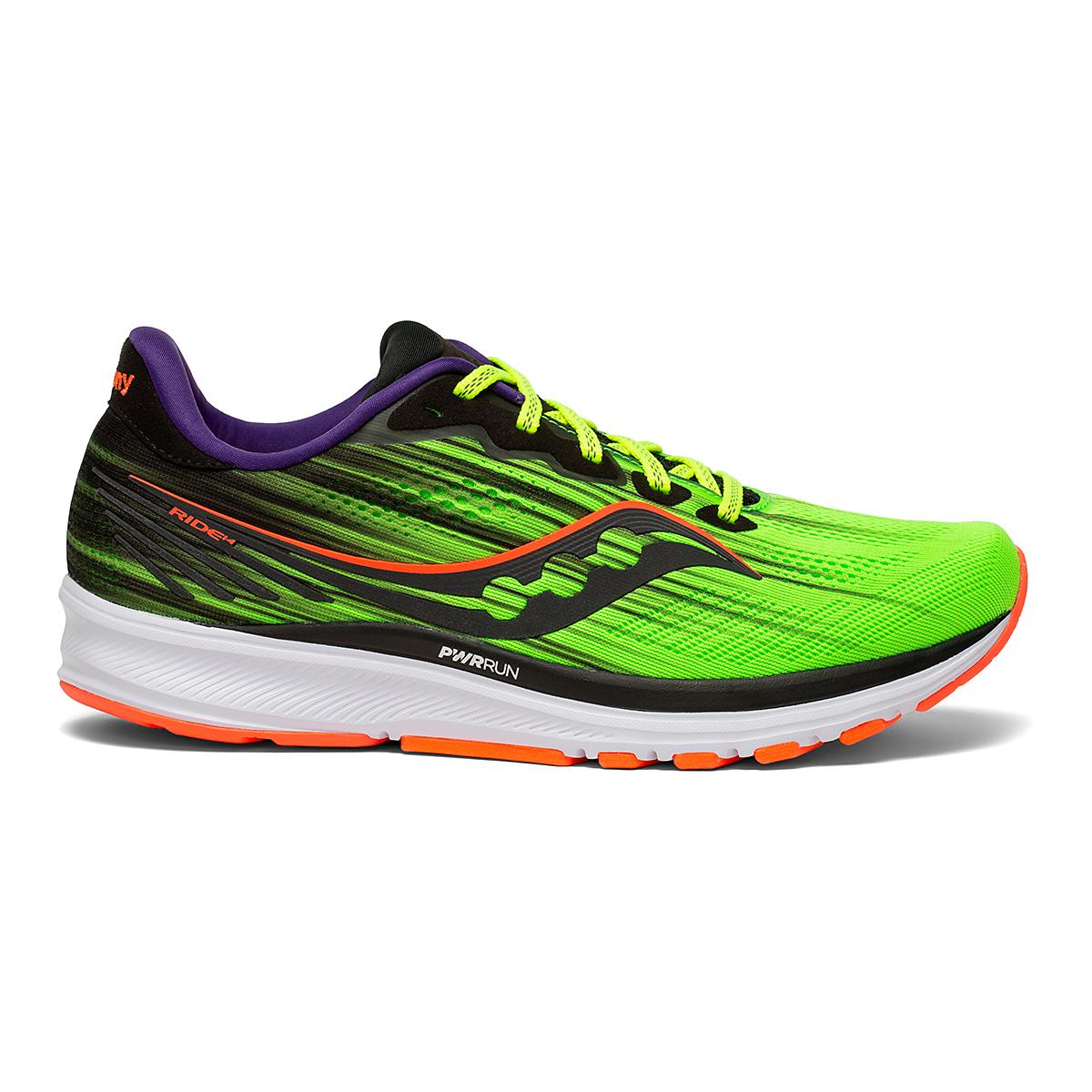 Men's Saucony Ride 14 Running Shoe - Color: Vizipro - Size: 7 - Width: Regular, Vizipro, large, image 1