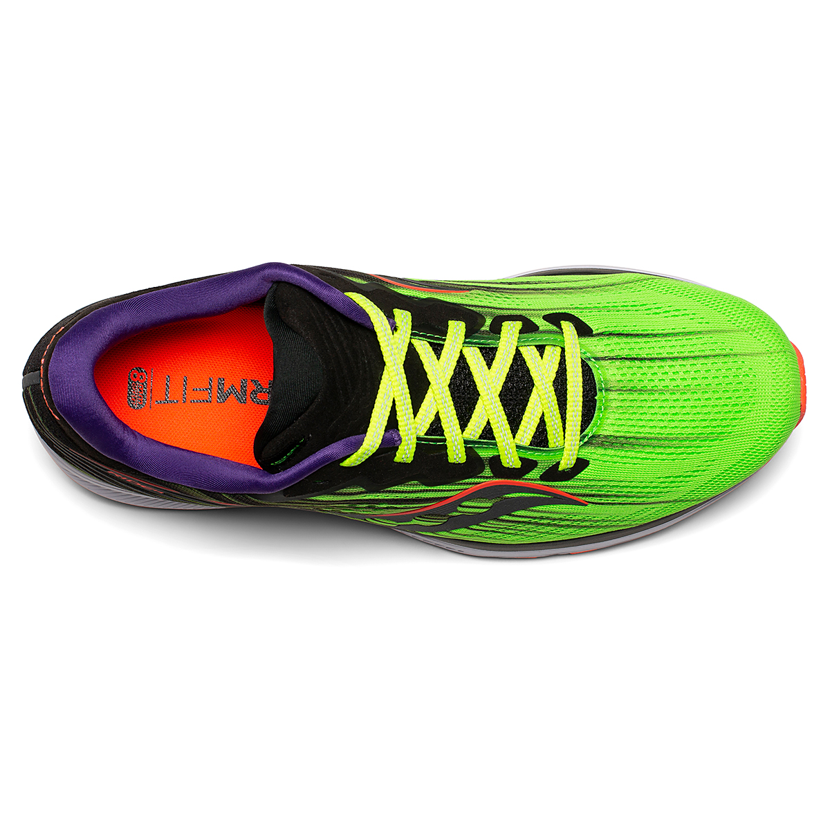 Men's Saucony Ride 14 Running Shoe - Color: Vizipro - Size: 7 - Width: Regular, Vizipro, large, image 3