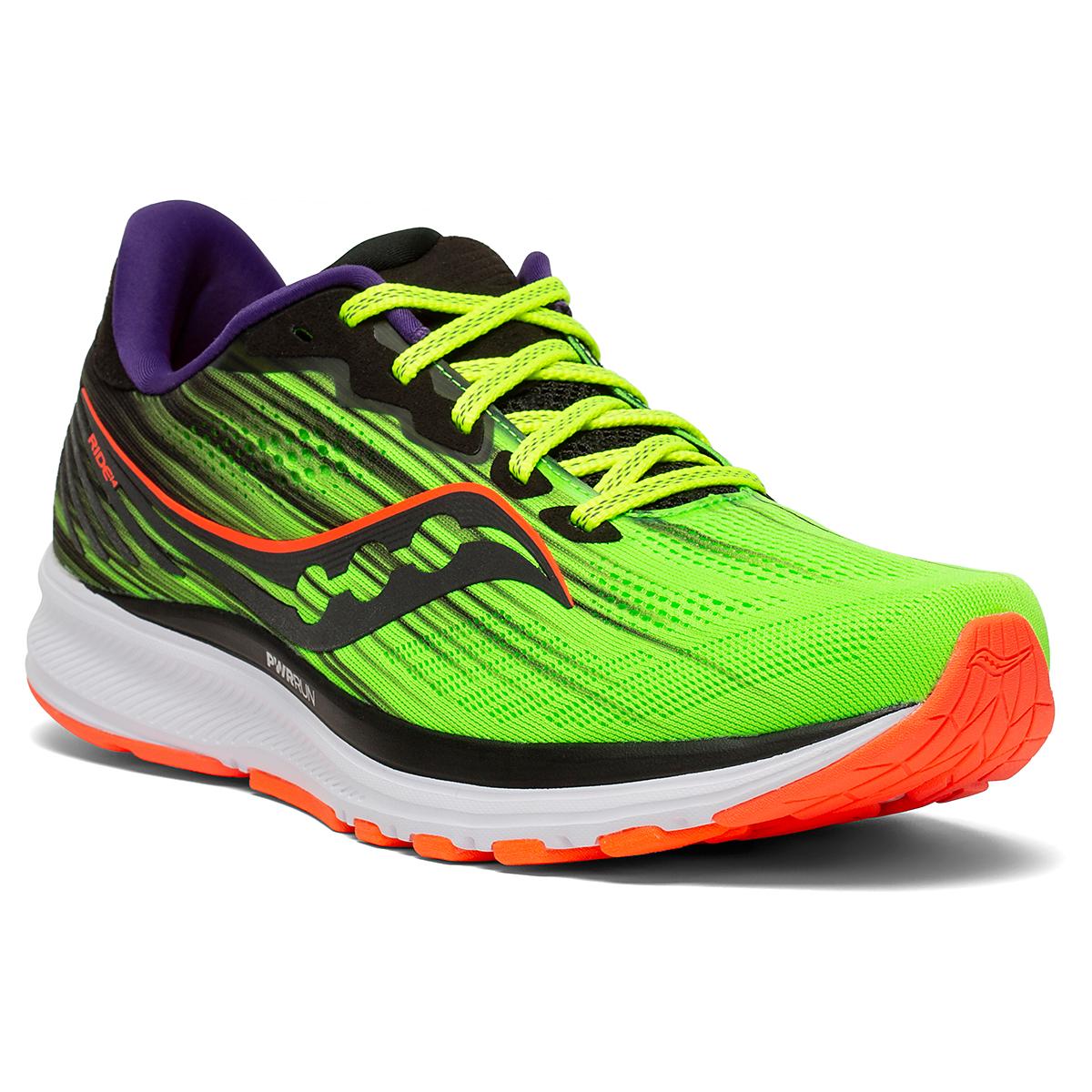 Men's Saucony Ride 14 Running Shoe - Color: Vizipro - Size: 7 - Width: Regular, Vizipro, large, image 5