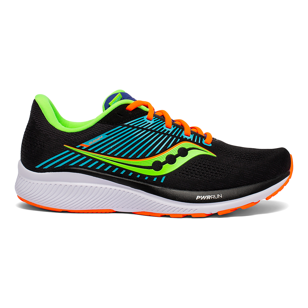 Men's Saucony Guide 14 Running Shoe - Color: Future/Black - Size: 7 - Width: Regular, Future/Black, large, image 1