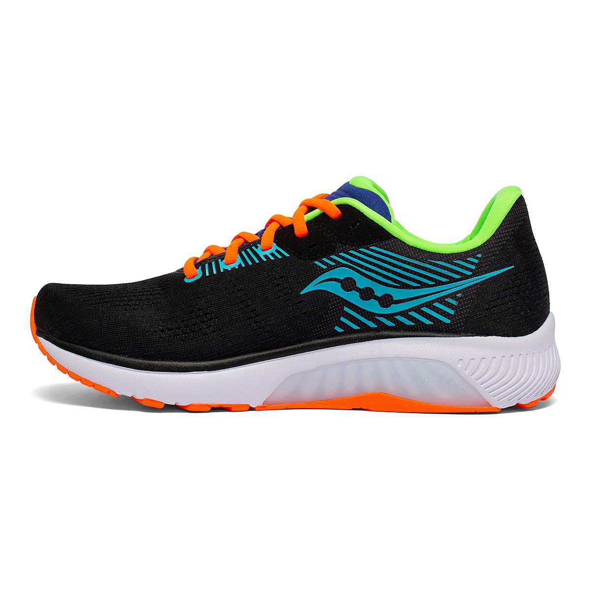 Men's Saucony Guide 14 Running Shoe - Color: Future/Black - Size: 7 - Width: Regular, Future/Black, large, image 2