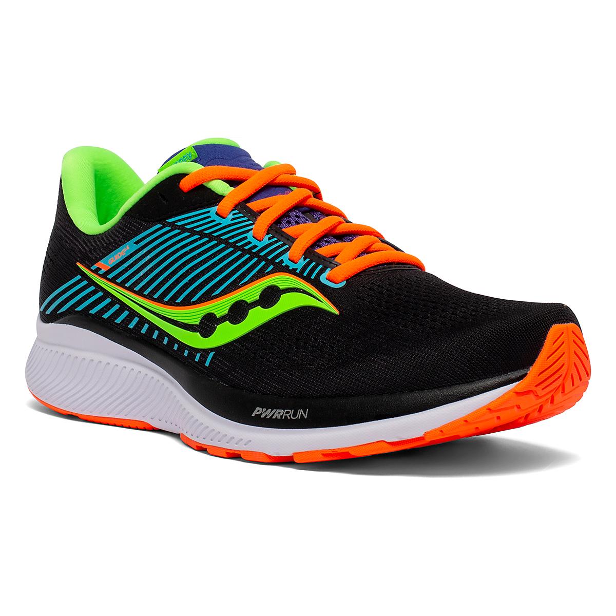 Men's Saucony Guide 14 Running Shoe - Color: Future/Black - Size: 7 - Width: Regular, Future/Black, large, image 3