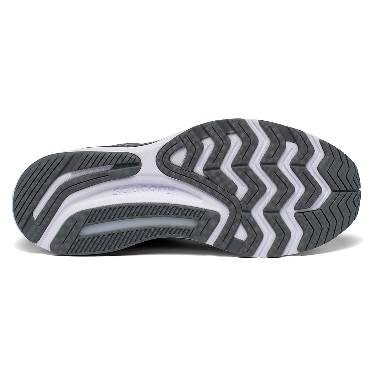 Men's Saucony Guide 14 Running Shoe - Color: Charcoal/Vizigold - Size: 7 - Width: Regular, Charcoal/Vizigold, large, image 5