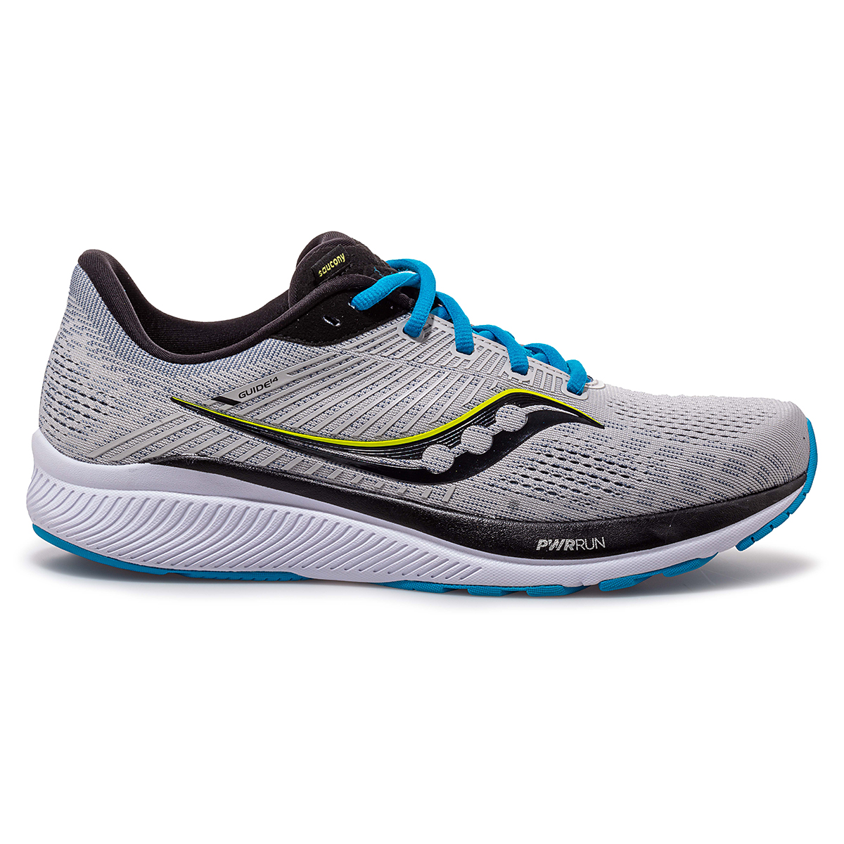 Men's Saucony Guide 14 Running Shoe - Color: Alloy/Cobalt - Size: 7 - Width: Regular, Alloy/Cobalt, large, image 1
