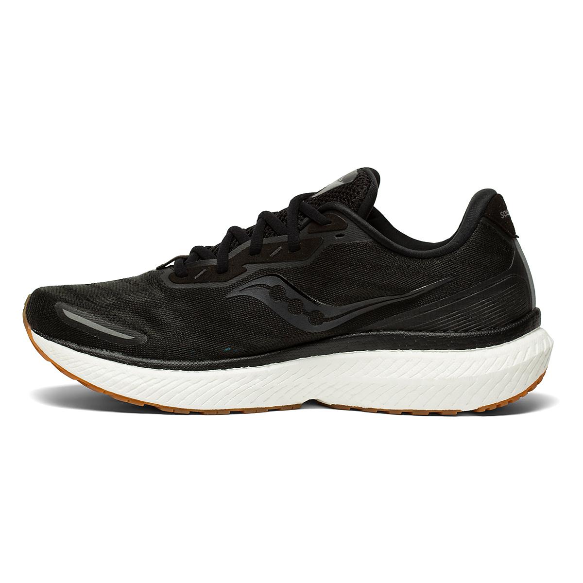 Men's Saucony Triumph 19 Running Shoe - Color: Black/Gum - Size: 7 - Width: Regular, Black/Gum, large, image 3