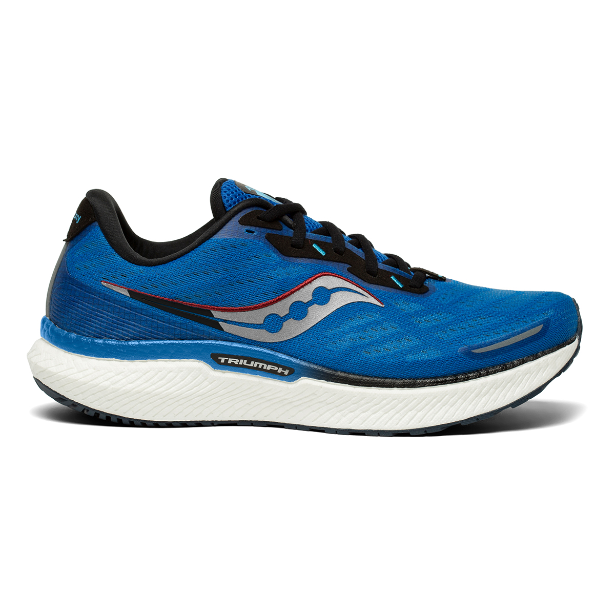 Men's Saucony Triumph 19 Running Shoe - Color: Royal / Space - Size: 7 - Width: Regular, Royal / Space, large, image 1