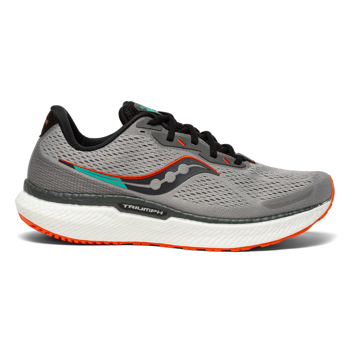Men's Saucony Triumph 19 Running Shoe - Color: Alloy / Fire - Size: 7 - Width: Wide, Alloy / Fire, large, image 1