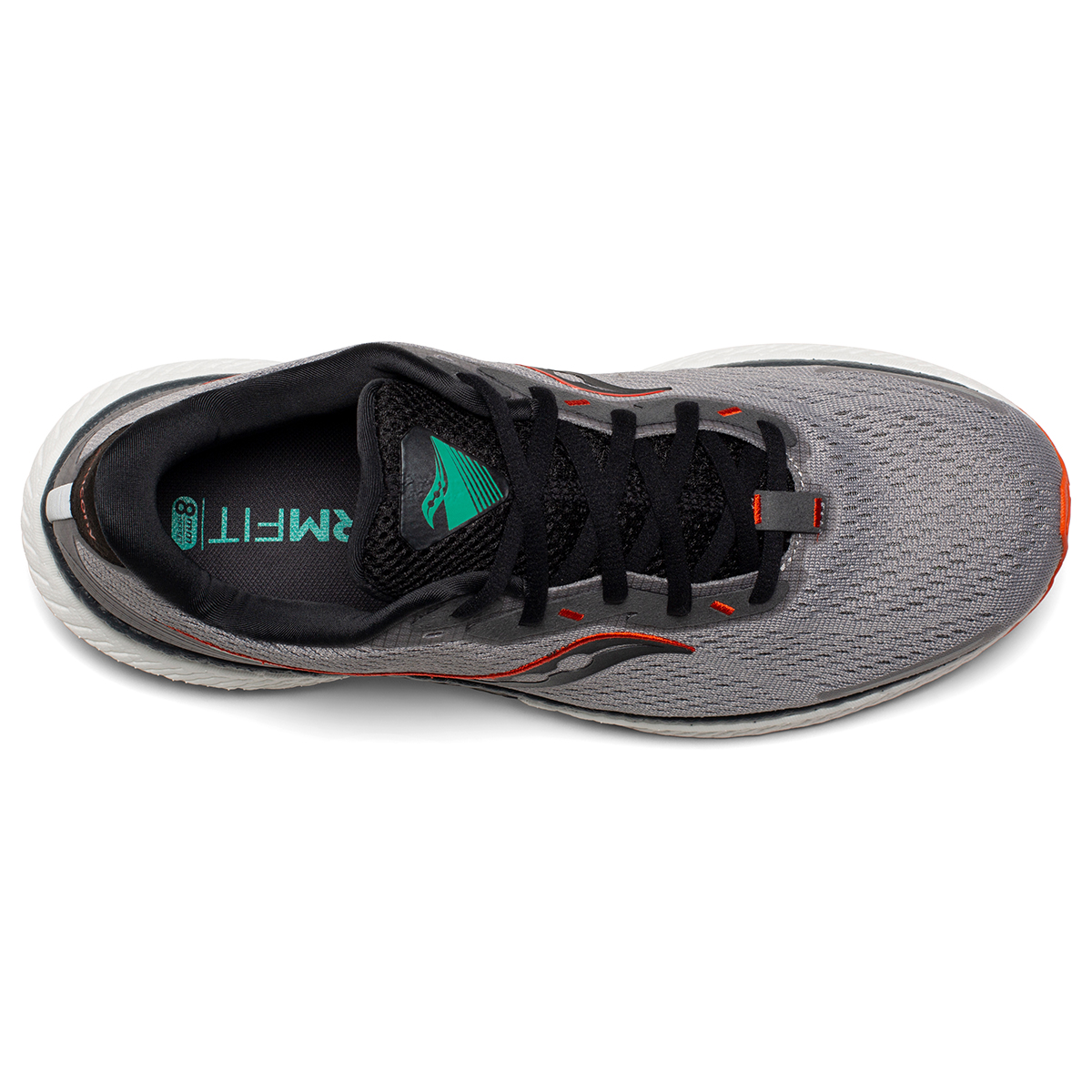Men's Saucony Triumph 19 Running Shoe - Color: Alloy / Fire - Size: 7 - Width: Wide, Alloy / Fire, large, image 2