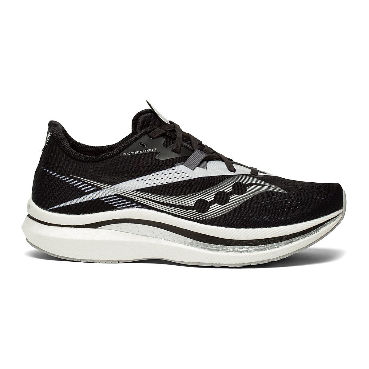 Men's Saucony Endorphin Pro 2 Running Shoe - Color: Black/White - Size: 7 - Width: Regular, Black/White, large, image 1