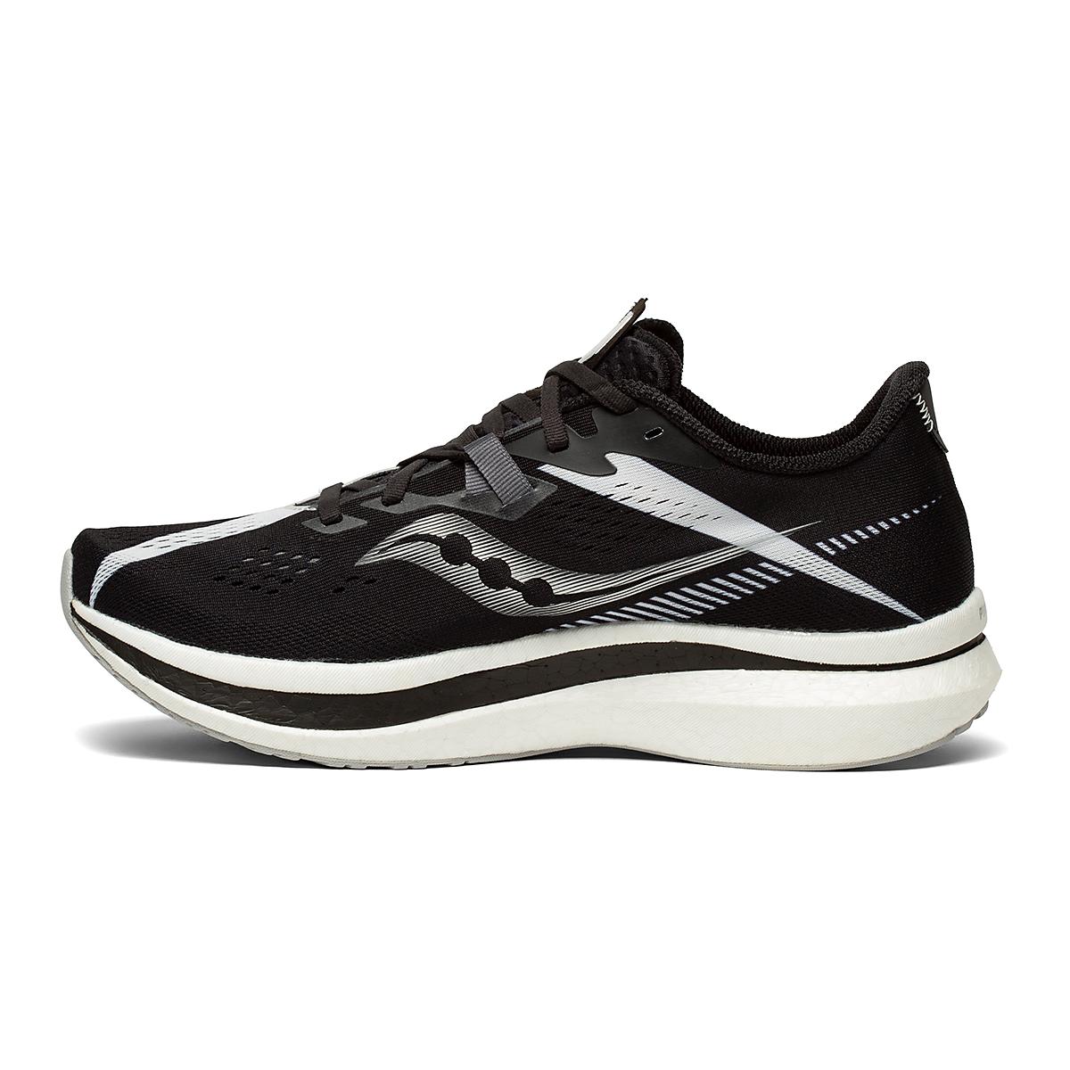 Men's Saucony Endorphin Pro 2 Running Shoe - Color: Black/White - Size: 7 - Width: Regular, Black/White, large, image 2