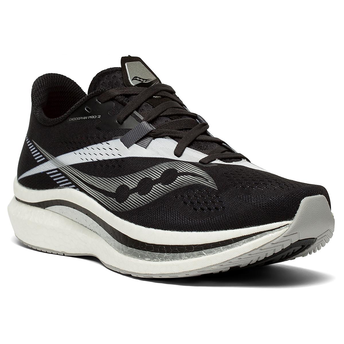 Men's Saucony Endorphin Pro 2 Running Shoe - Color: Black/White - Size: 7 - Width: Regular, Black/White, large, image 5