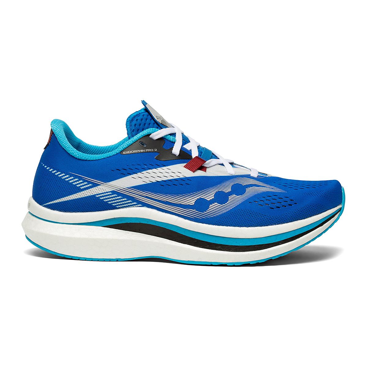 Men's Saucony Endorphin Pro 2 Running Shoe - Color: Royal/White - Size: 7 - Width: Regular, Royal/White, large, image 1