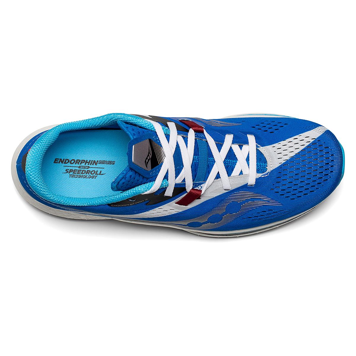 Men's Saucony Endorphin Pro 2 Running Shoe - Color: Royal/White - Size: 7 - Width: Regular, Royal/White, large, image 3