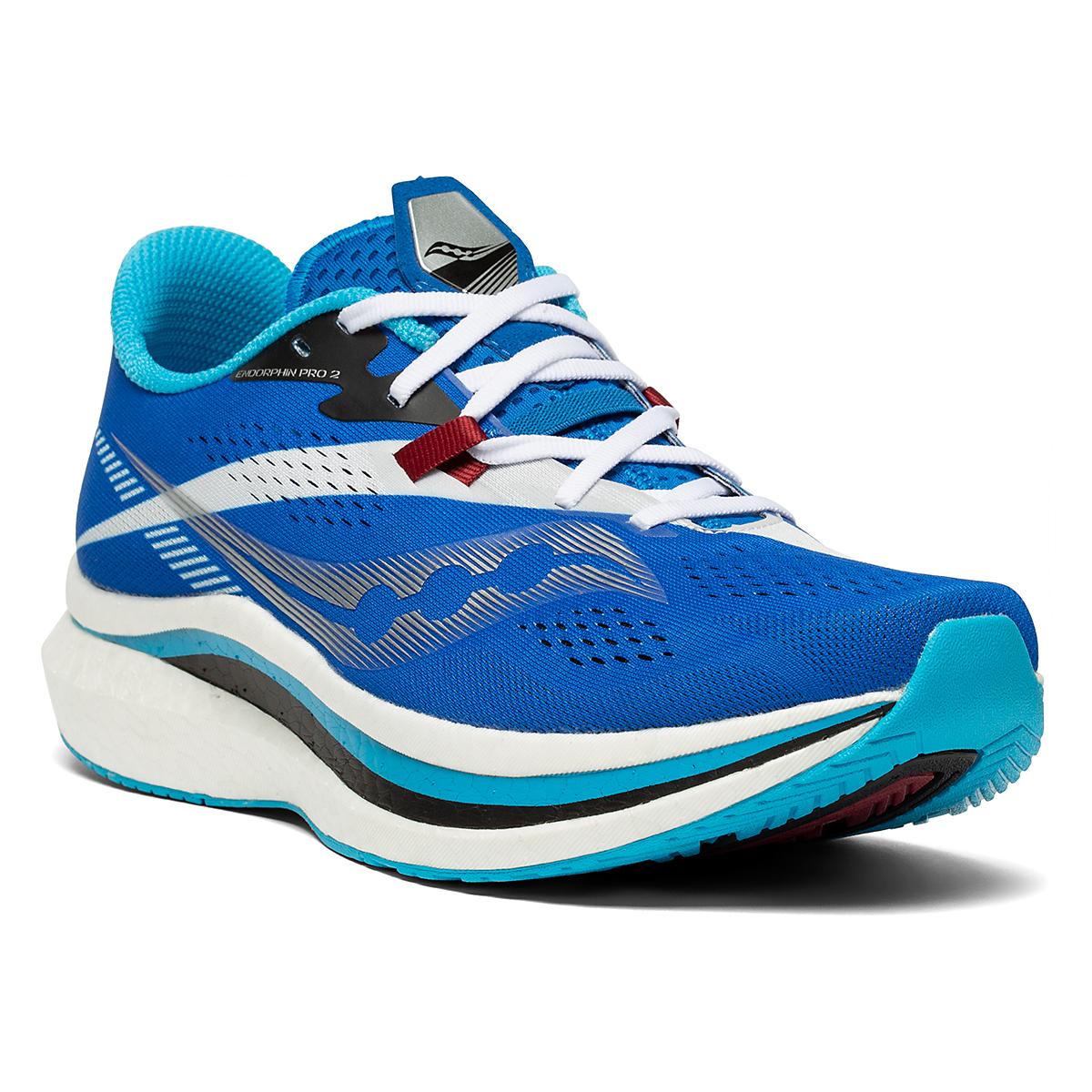 Men's Saucony Endorphin Pro 2 Running Shoe - Color: Royal/White - Size: 7 - Width: Regular, Royal/White, large, image 5