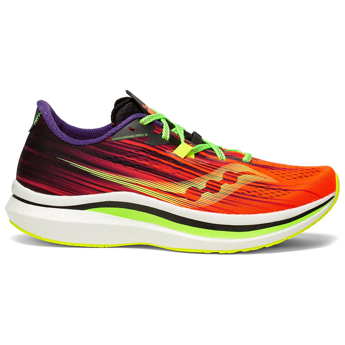 Men's Saucony Endorphin Pro 2 Running Shoe - Color: Vizipro - Size: 7 - Width: Regular, Vizipro, large, image 1