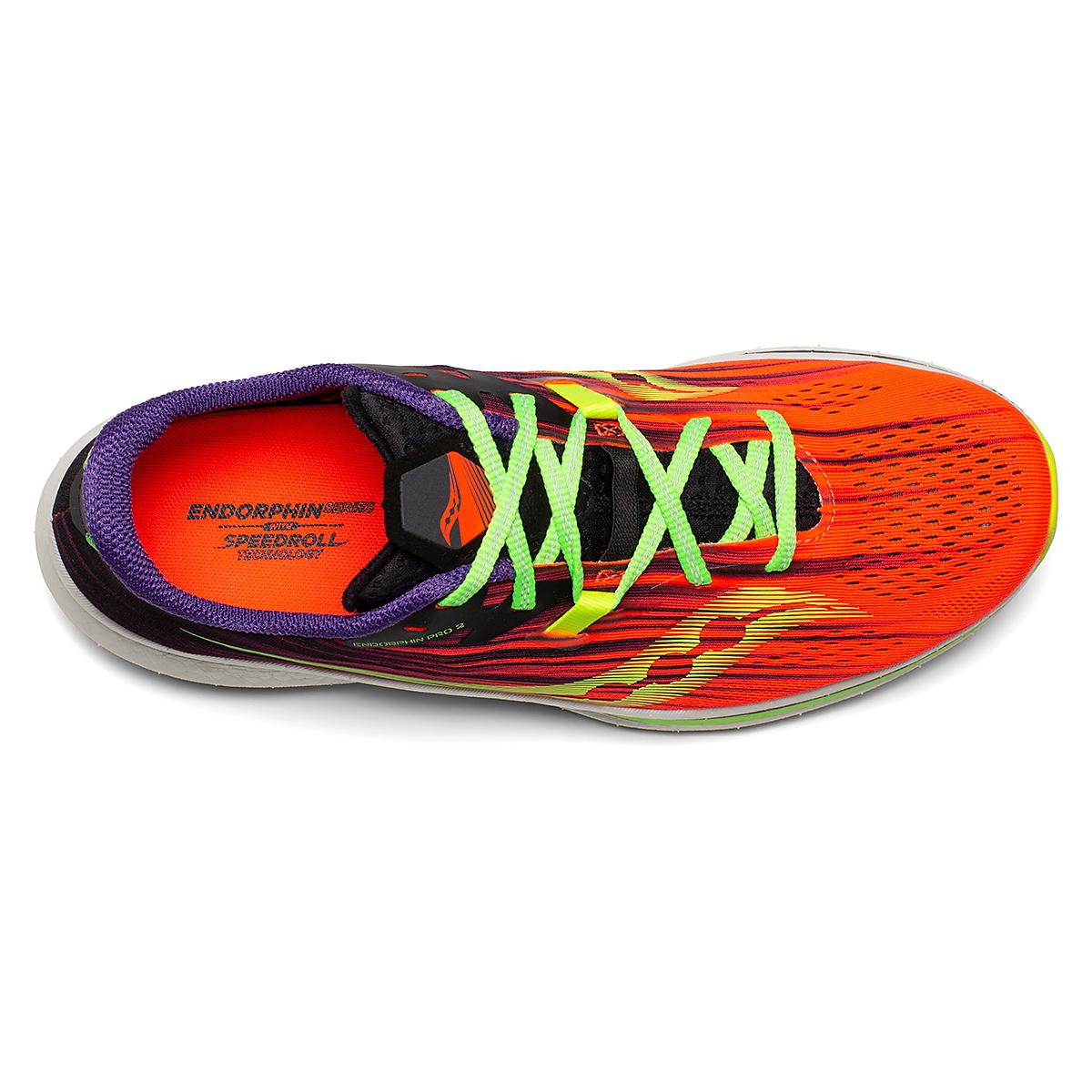 Men's Saucony Endorphin Pro 2 Running Shoe - Color: Vizipro - Size: 7 - Width: Regular, Vizipro, large, image 3