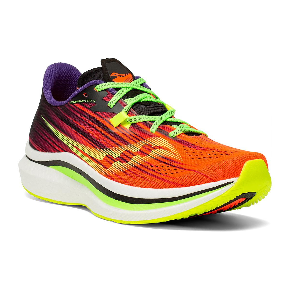 Men's Saucony Endorphin Pro 2 Running Shoe - Color: Vizipro - Size: 7 - Width: Regular, Vizipro, large, image 5