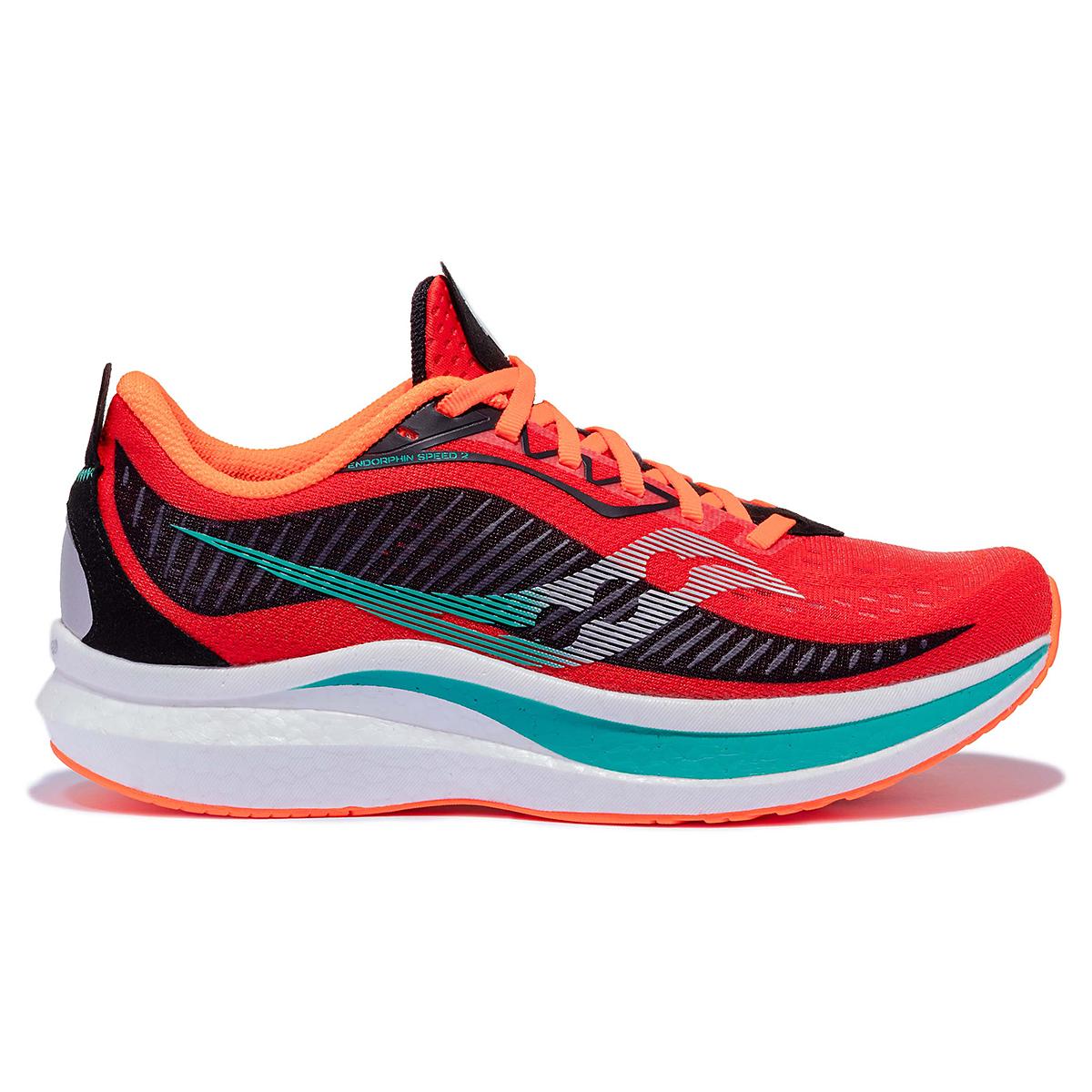 Men's Saucony Endorphin Speed 2 Running Shoe - Color: Scarlet / Black - Size: 7 - Width: Regular, Scarlet / Black, large, image 1