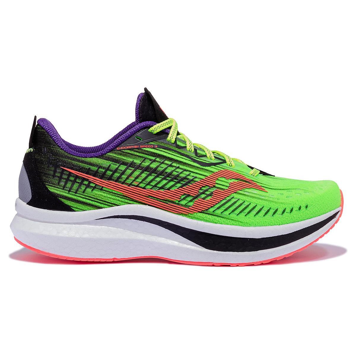 Men's Saucony Endorphin Speed 2 Running Shoe - Color: Vizipro - Size: 7 - Width: Regular, Vizipro, large, image 1