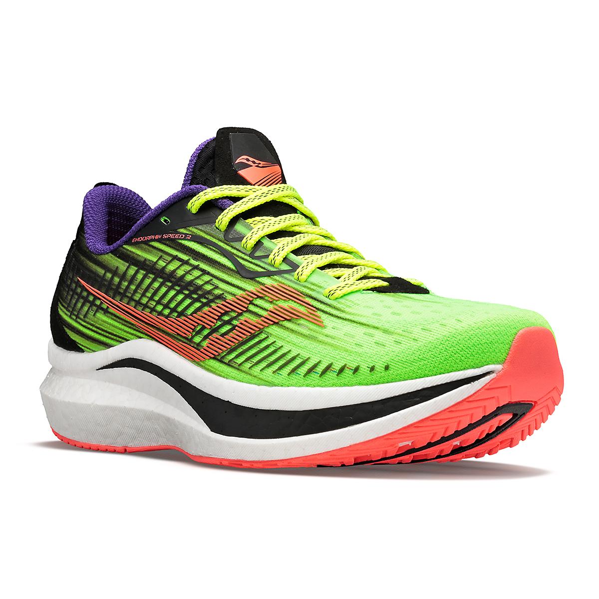 Men's Saucony Endorphin Speed 2 Running Shoe - Color: Vizipro - Size: 7 - Width: Regular, Vizipro, large, image 2