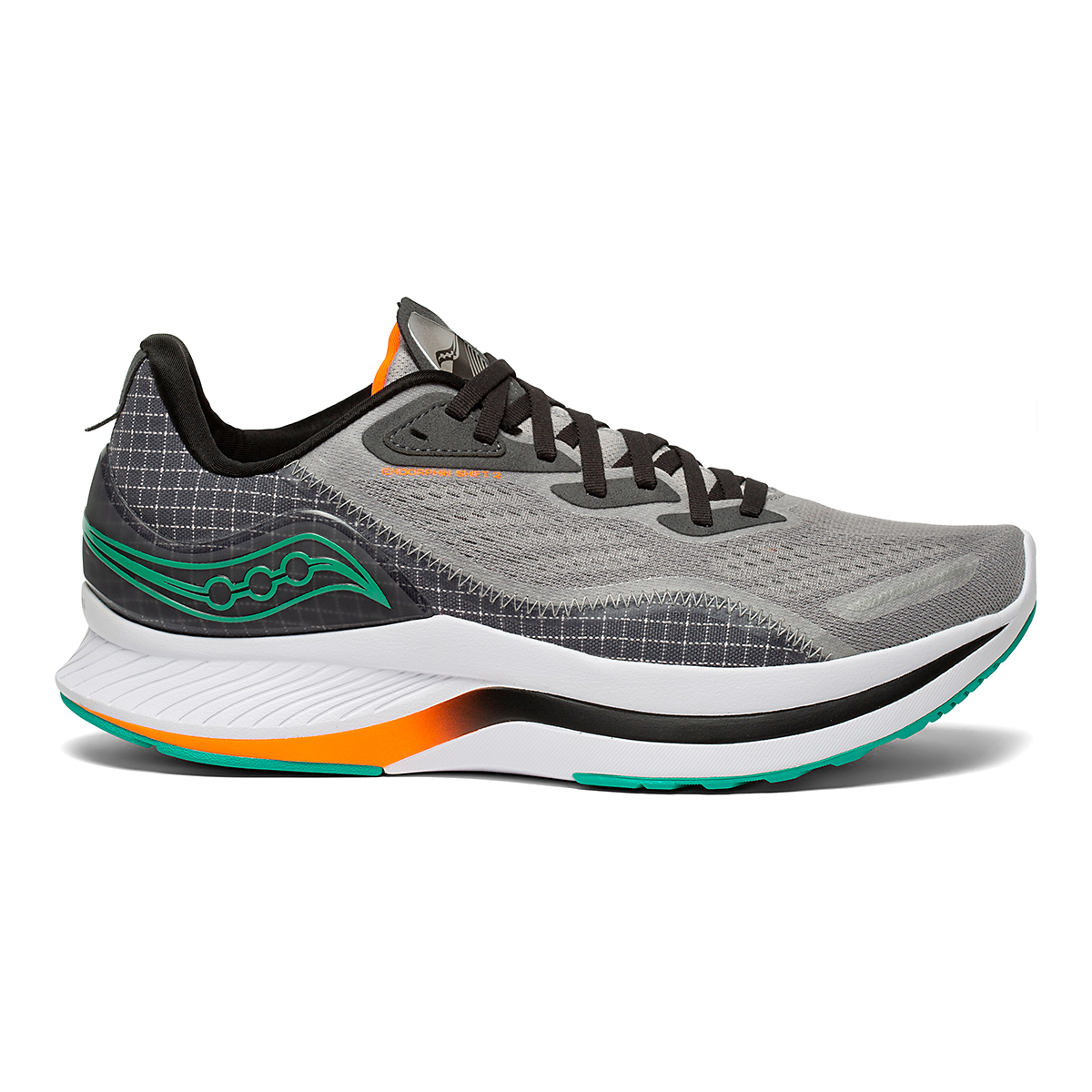 Men's Saucony Endorphin Shift 2 Running Shoe - Color: Alloy / Jade - Size: 7 - Width: Regular, Alloy / Jade, large, image 1