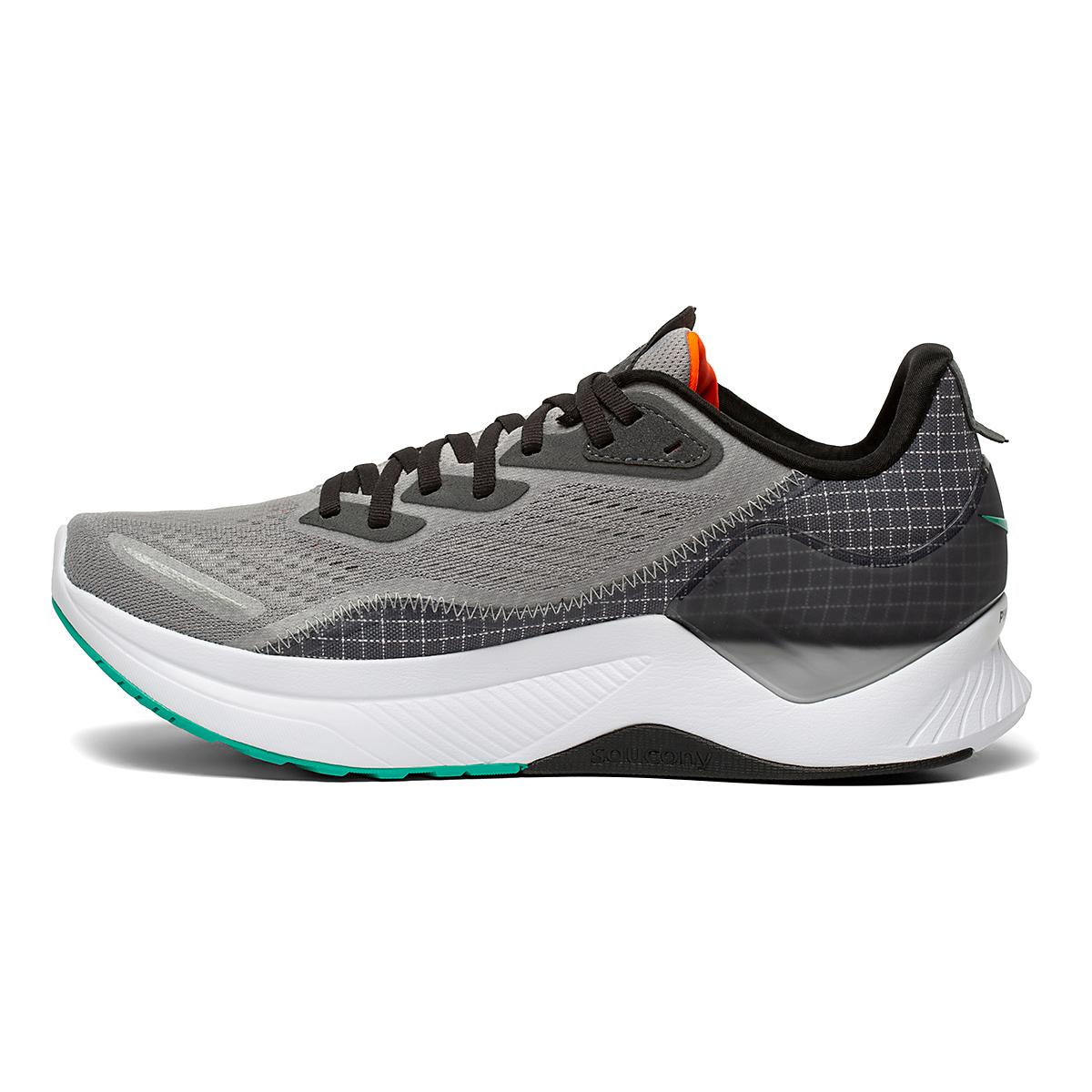 Men's Saucony Endorphin Shift 2 Running Shoe - Color: Alloy / Jade - Size: 7 - Width: Regular, Alloy / Jade, large, image 2