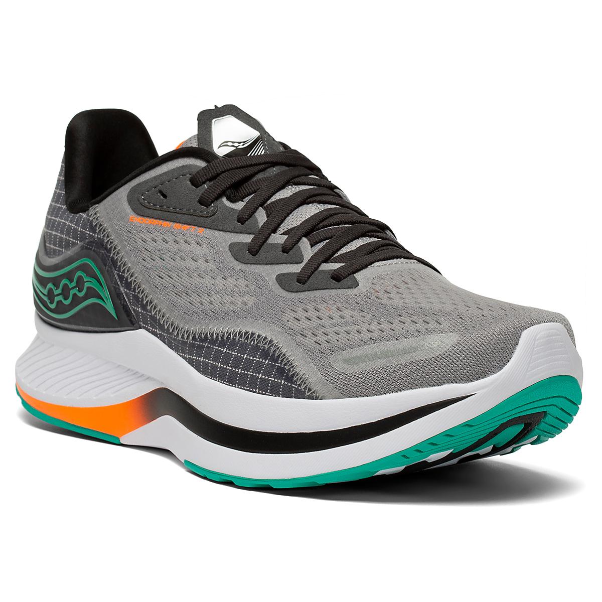 Men's Saucony Endorphin Shift 2 Running Shoe - Color: Alloy / Jade - Size: 7 - Width: Regular, Alloy / Jade, large, image 5
