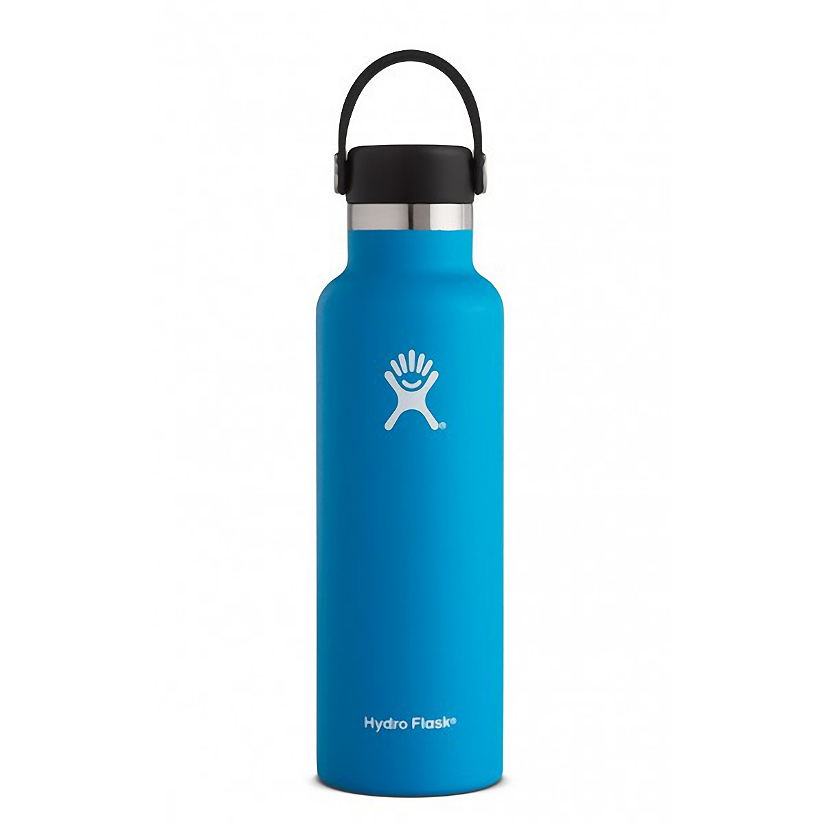 Unisex Hydro Flask 21 oz Standard Mouth Bottle - Color: Pacific Size: One Size, Blue, large, image 1
