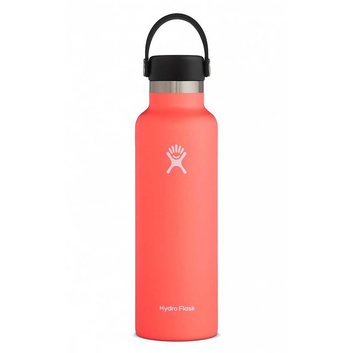 Hydro Flask 21 oz Standard Mouth Bottle - Color: Hibiscus Size: One Size, Orange, large, image 1