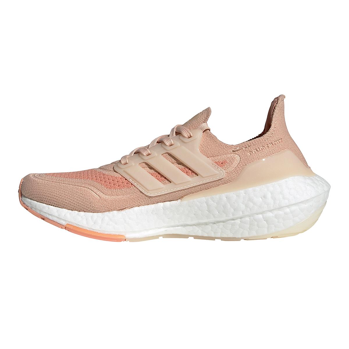 Women's Adidas Ultraboost 21 Running Shoe - Color: Halo Blush/Wonder White/Ambient Blush - Size: 5 - Width: Regular, Halo Blush/Wonder White/Ambient Blush, large, image 2
