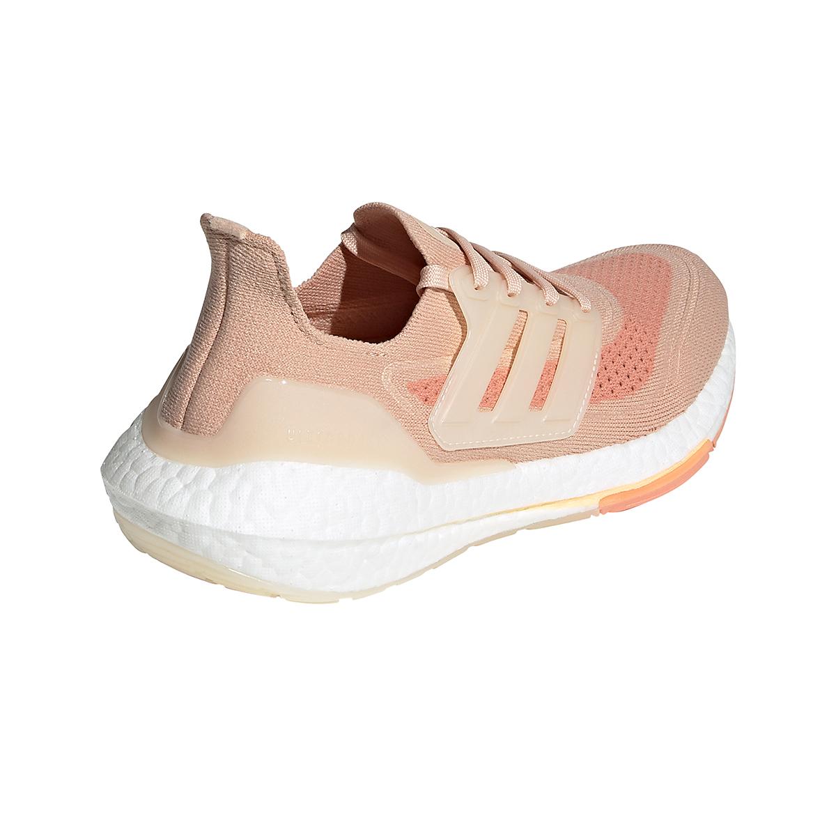 Women's Adidas Ultraboost 21 Running Shoe - Color: Halo Blush/Wonder White/Ambient Blush - Size: 5 - Width: Regular, Halo Blush/Wonder White/Ambient Blush, large, image 4