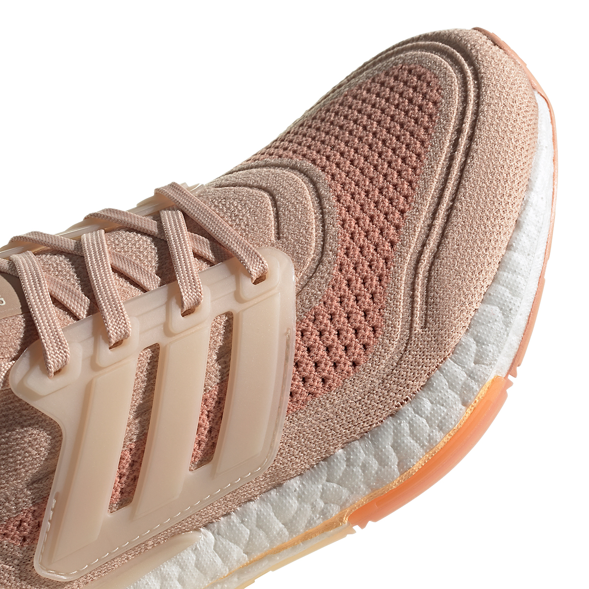 Women's Adidas Ultraboost 21 Running Shoe - Color: Halo Blush/Wonder White/Ambient Blush - Size: 5 - Width: Regular, Halo Blush/Wonder White/Ambient Blush, large, image 6