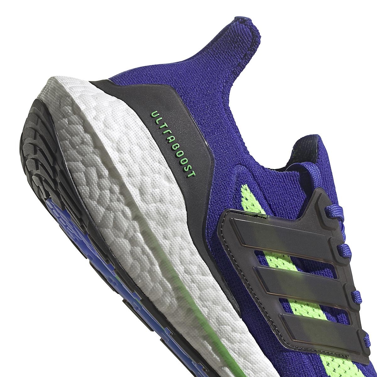 Men's Adidas UltraBOOST 21 Running Shoe - Color: Sonic Ink/Core Black/Screaming Green - Size: 6 - Width: Regular, Sonic Ink/Core Black/Screaming Green, large, image 4