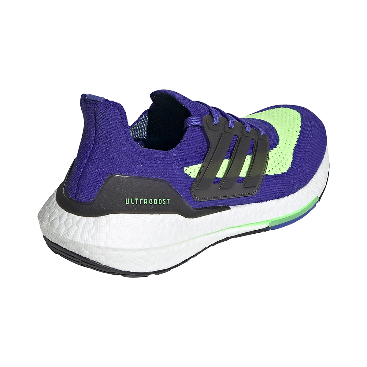 Men's Adidas UltraBOOST 21 Running Shoe - Color: Sonic Ink/Core Black/Screaming Green - Size: 6 - Width: Regular, Sonic Ink/Core Black/Screaming Green, large, image 5