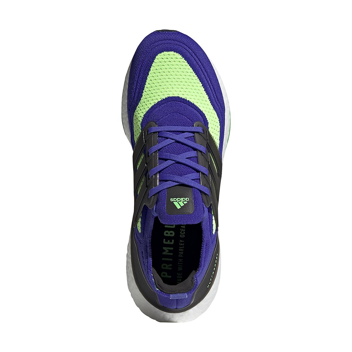 Men's Adidas UltraBOOST 21 Running Shoe - Color: Sonic Ink/Core Black/Screaming Green - Size: 6 - Width: Regular, Sonic Ink/Core Black/Screaming Green, large, image 6