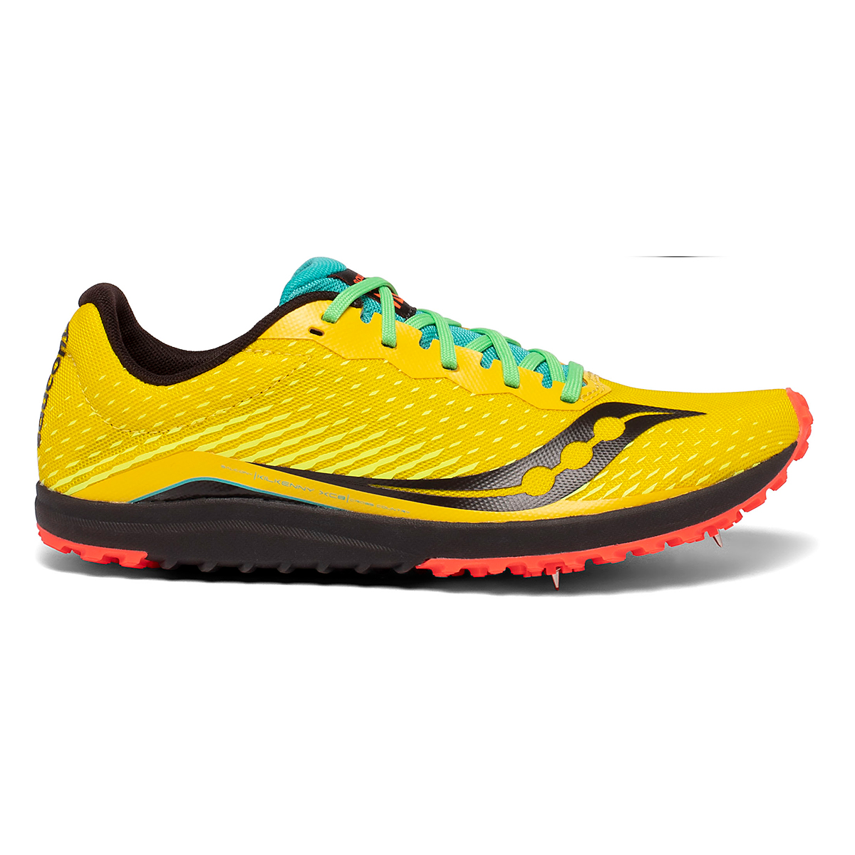 Men's Saucony Kilkenny XC8 Track Spikes - Color: Yellow Mutant - Size: 8 - Width: Regular, Yellow Mutant, large, image 1
