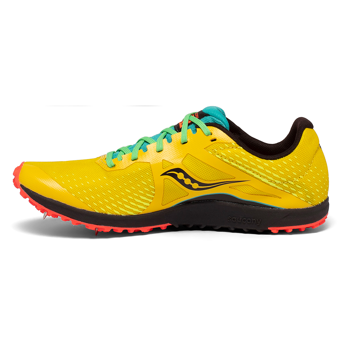 Men's Saucony Kilkenny XC8 Track Spikes - Color: Yellow Mutant - Size: 8 - Width: Regular, Yellow Mutant, large, image 2