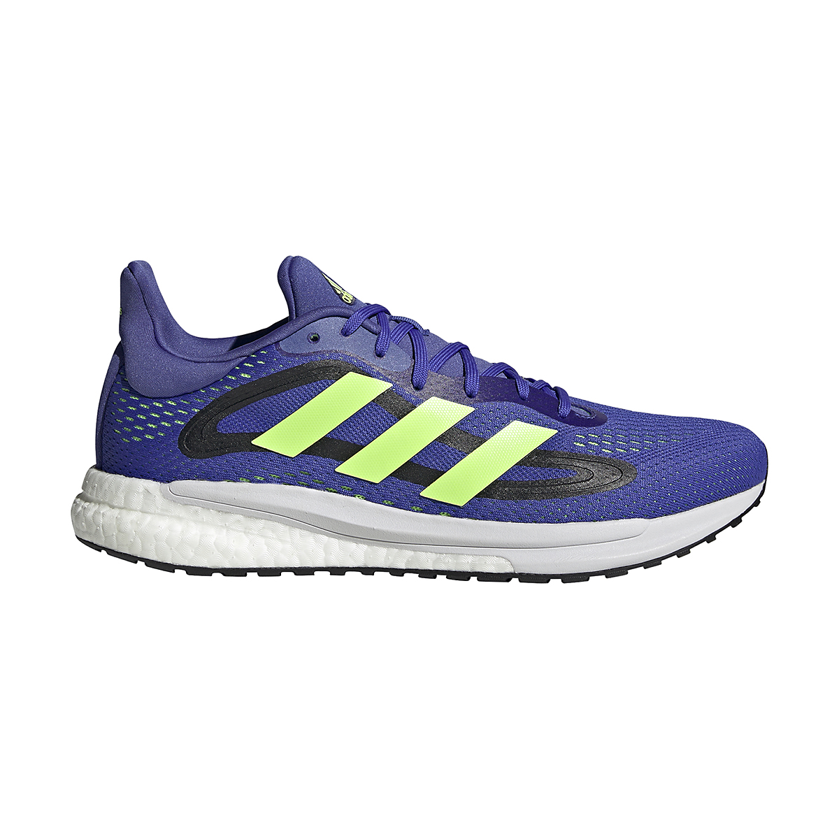 Men's Adidas SolarGlide 4 Running Shoe - Color: Sonic Ink/Signal Green/Core Black - Size: 6.5 - Width: Regular, Sonic Ink/Signal Green/Core Black, large, image 1