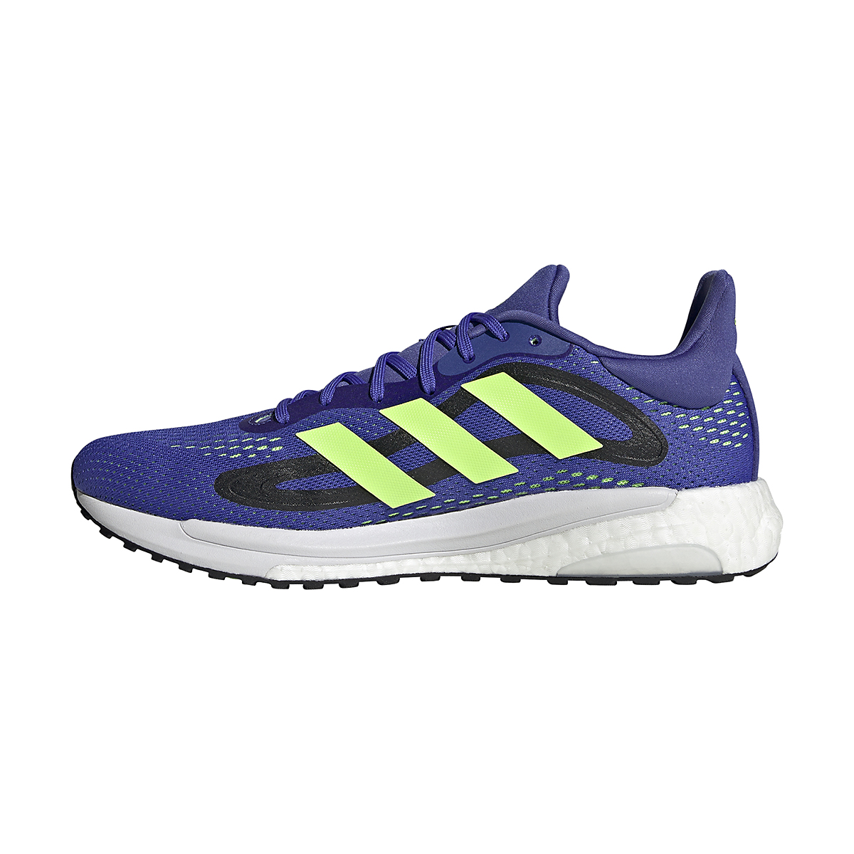 Men's Adidas SolarGlide 4 Running Shoe - Color: Sonic Ink/Signal Green/Core Black - Size: 6.5 - Width: Regular, Sonic Ink/Signal Green/Core Black, large, image 2